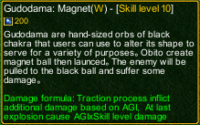 naruto castle defense 6.0 Gudodama: Magnet detail