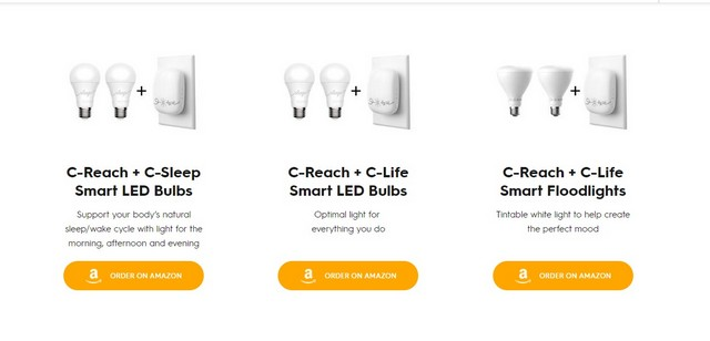GE c-reach led smart light bulbs with sensor device
