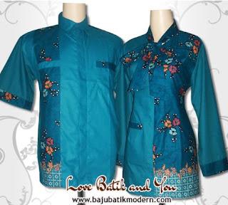Model Baju Batik Resmi Kombinasi