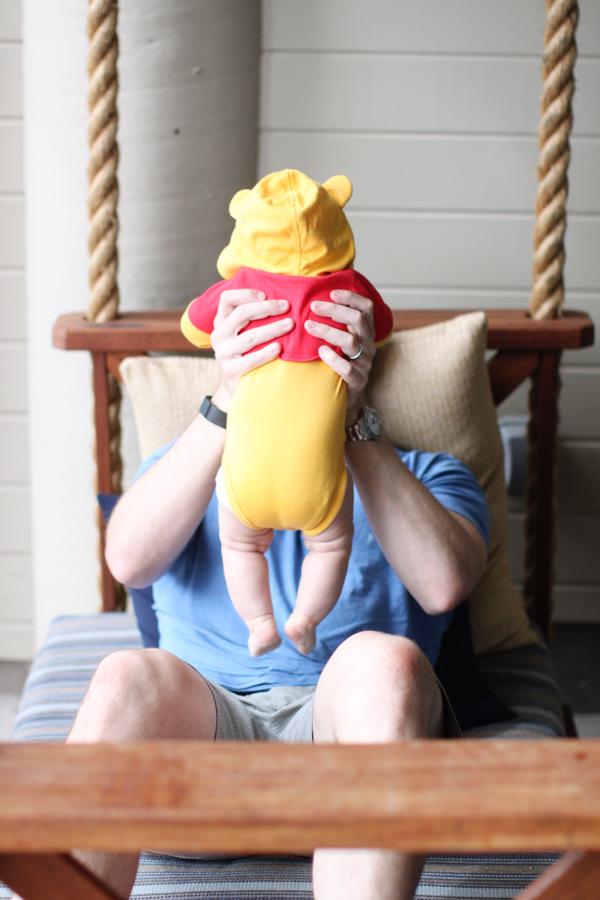 Winnie the Pooh hooded onesie