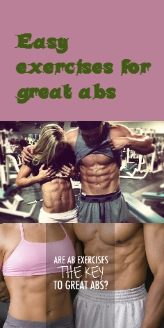 Easy exercises for great abs
