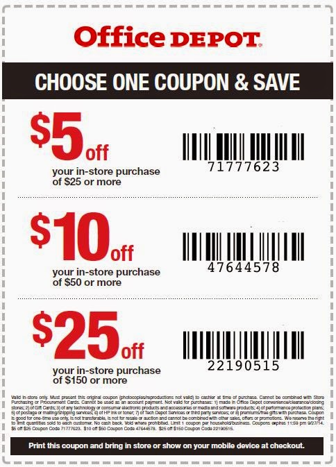 Office Depot Printable Coupons May 2018
