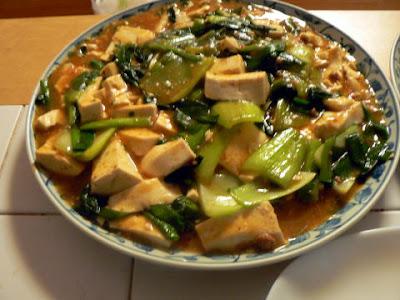 野菜麻婆豆腐完成