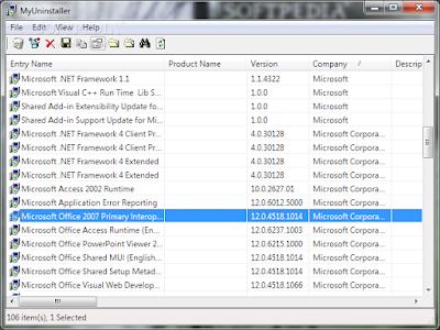 برنامج ازالة البرامج من جذورها MyUninstaller 1.76