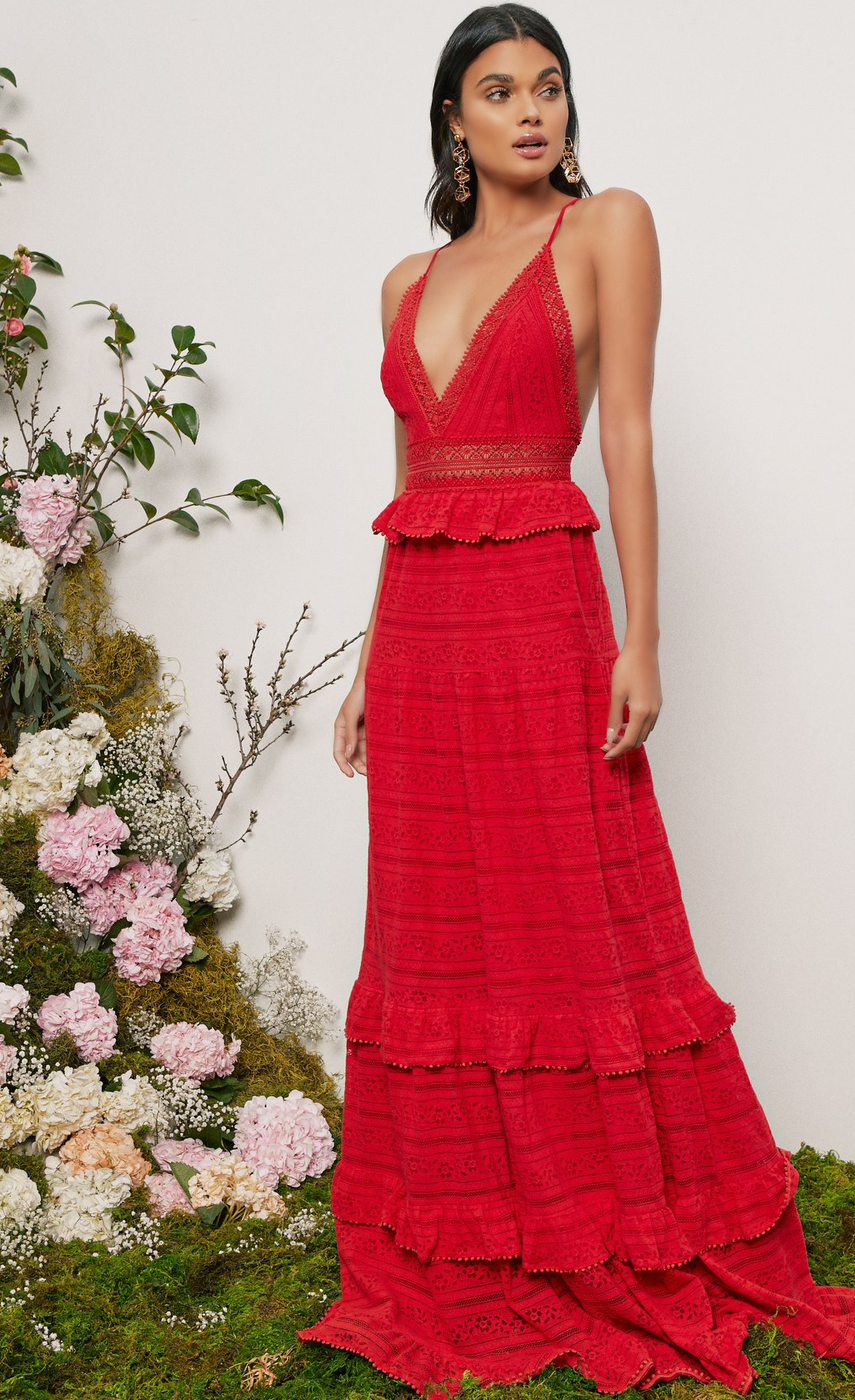 Revolve Dresses by Color in Red