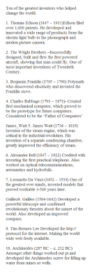 Greatest inventors in history