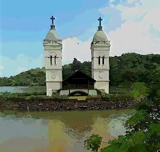 Torres da Antiga Igreja de Itá: Igreja Submersa