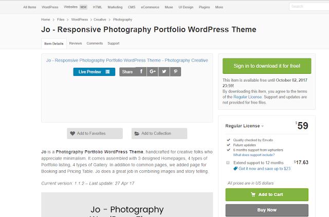 Jo - Responsive Photography Portfolio WordPress Theme