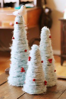 Como hacer arboles de navidad decorativos