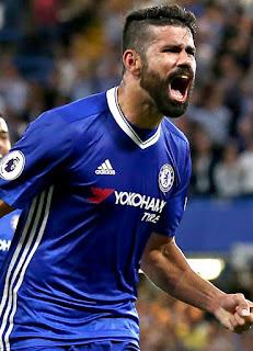 Diego Costa, Prediksi Chelsea vs Man United, Pekan ke-9 EPL 2016/2017