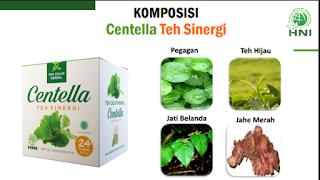 Teh celup herbal pegagan Centela teh sinergi minuman sehat khasiat obat