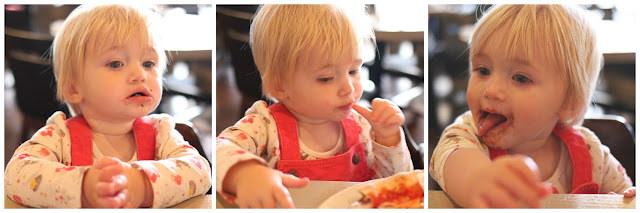 toddler enjoying food