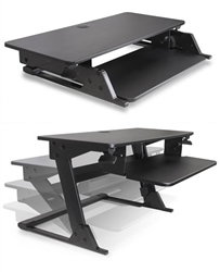 Desk Surface Attachment for Sit To Stand Computing