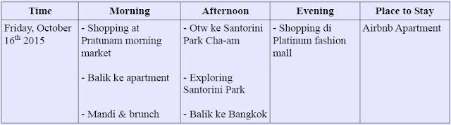 itinerary 3 hari di bangkok