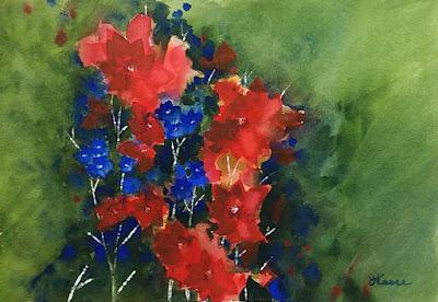 Loose Watercolor Flowers - JKeese