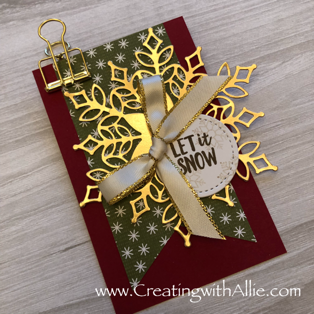 Check out this post to get some tips on how to make a  beautiful Tag using the products from the Snowflake showcase promotion!!!  www.creatingwithallie.com #stampinup #alejandragomez #creatingwithallie #cardclassestogowithallie #videotutorial #cardmaking #papercrafts #handmadegreetingcards #fun #creativity #makeacard #sendacard #stampingisfun #sharewhatyoulove #handmadecards #friendshipcards #snoflakeshowcase