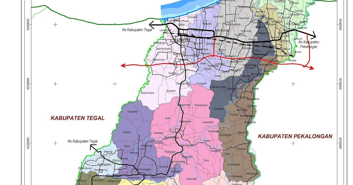 Peta Kota: Peta Kabupaten Pemalang
