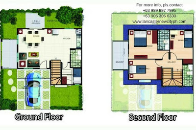 Floor Plan - Alexandra Single Attached House in Lancaster New City Cavite