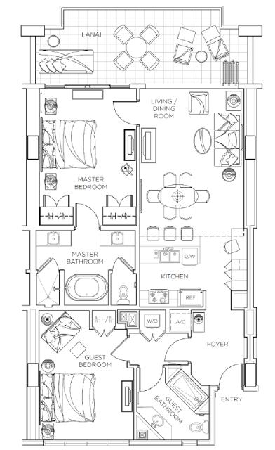 Review Hyatt Residence Club Maui Two Bedroom Villa