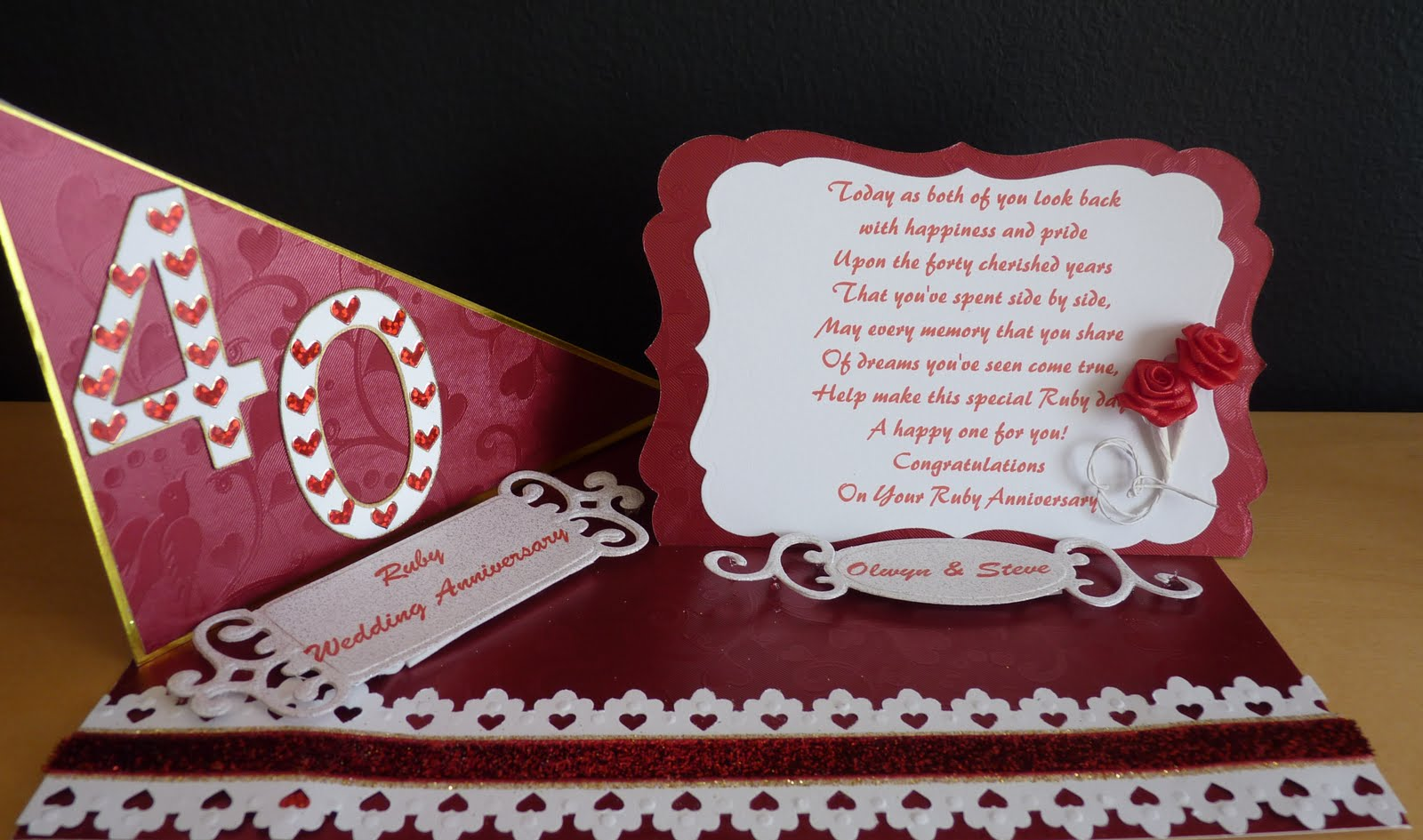 Ruby Wedding Gift Ideas: Shirley's Crafty Corner: Ruby Wedding And First Wedding
