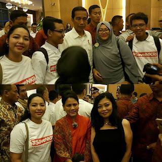 Berbicang-bincang dengan RI 1 bp. Jokowi dalam even #saveNKRI