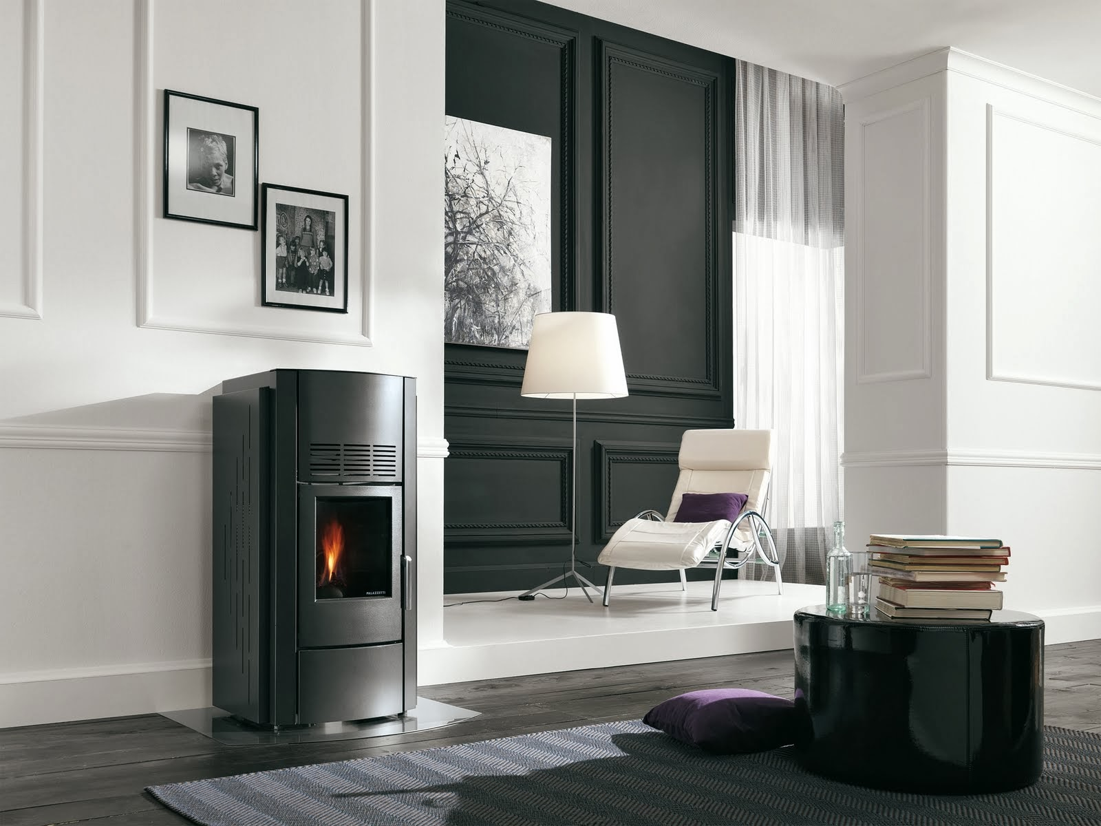palazzetti po le granul s bois combustion tanche elyotherm. Black Bedroom Furniture Sets. Home Design Ideas