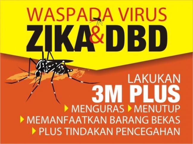 WASPADA VIRUS ZIKA & DBD dengan Melakukan 3M PLUS