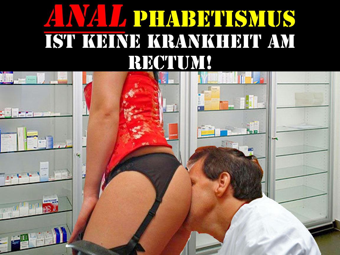 Lustige Satire Bilder Arzt - Analphabetismus ist keine Krankheit witzig