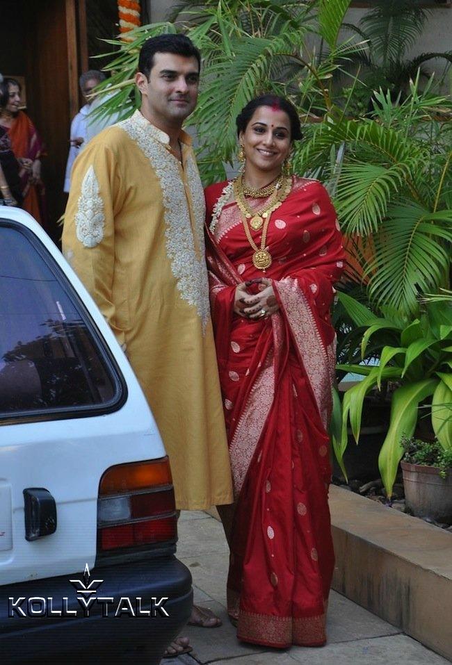 Close Knit Wedding Of Vidya Balan With Siddharth Roy Kapoor Indian