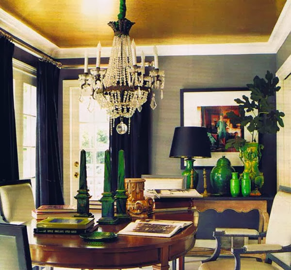 Green Dining Rooms: La Dolce Vita: Color Crush: Glorious Green