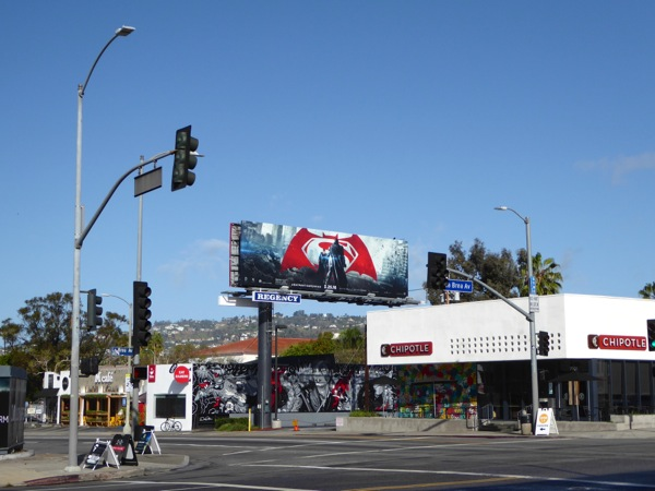 Batman v Superman billboard