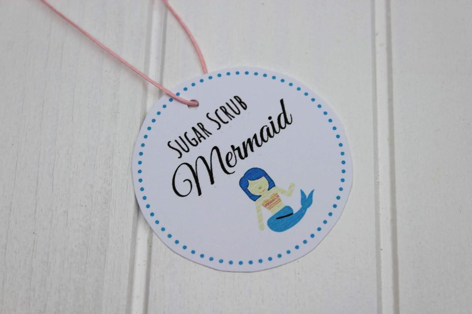 DIY Sugar Scrub / Zuckerpeeling Mermaid ganz einfach selbermachen - inkl. Wirkweise, Anwendung und Haltbarkeit (kostenloses Etikett)