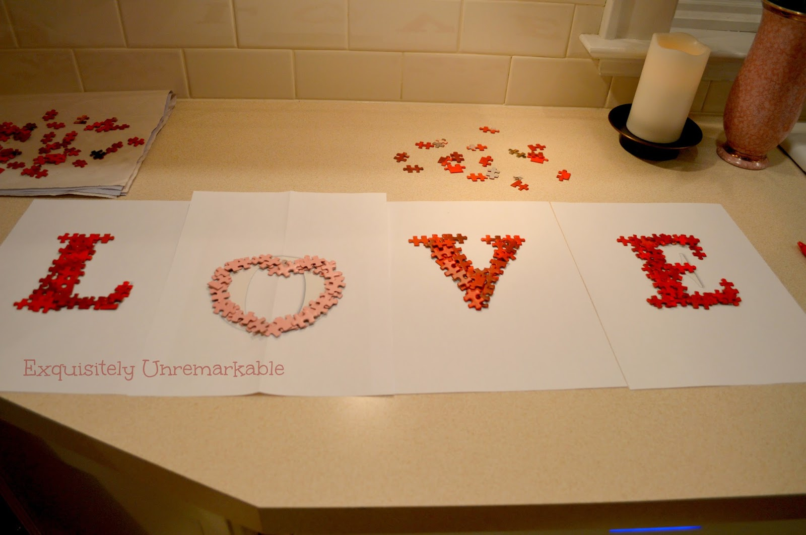 How To Make Puzzle Piece Letters  Spell Love