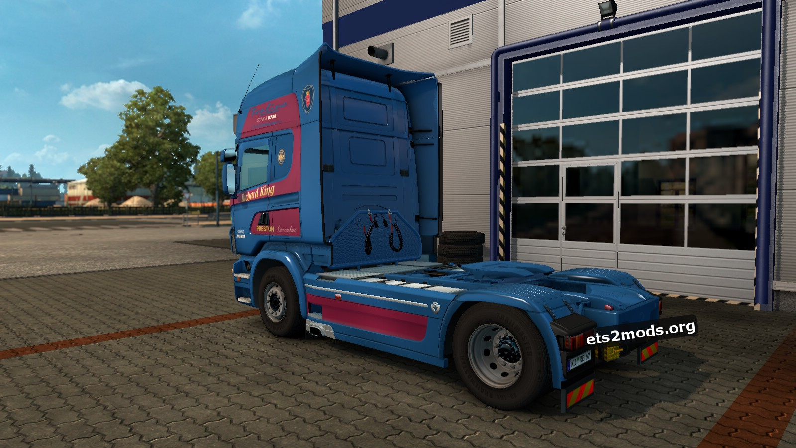 Richard King Haulage UK Skin for Scania RJL