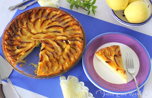 Tarta de manzana facilísima. Julia y sus recetas