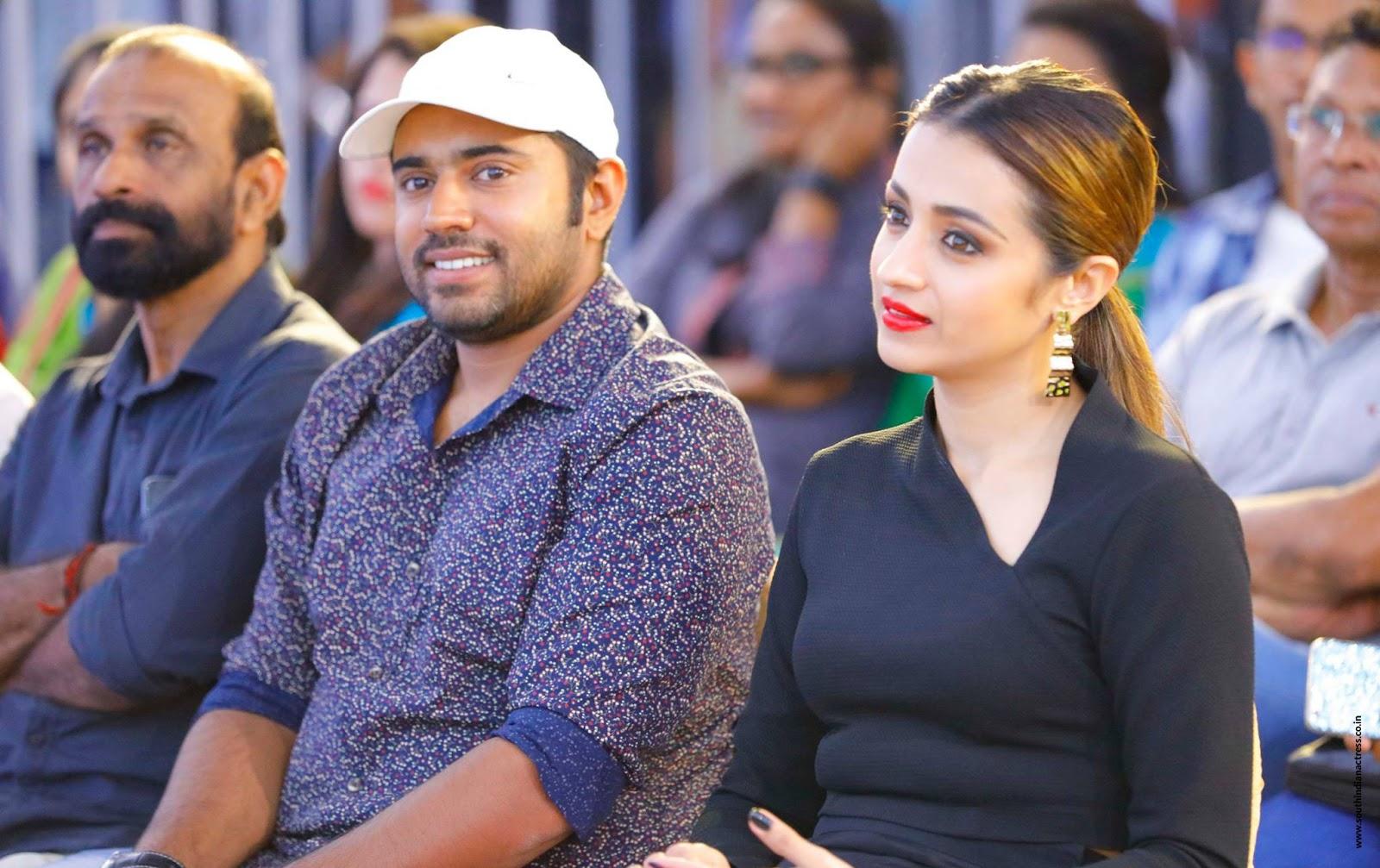 Trisha Krishnan looks super cute at Malayalam movie Hey Jude audio launch at Lulu