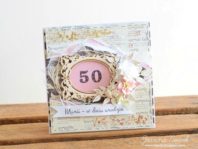 Kartka urodzinowa - 50 Jubileusz