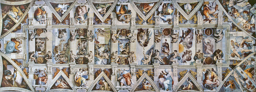 Sistine Chapel ceiling, painted 1508 to 1512 by Michelangelo
