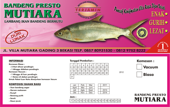 Desain Kemasan Produk Ikan Bandeng