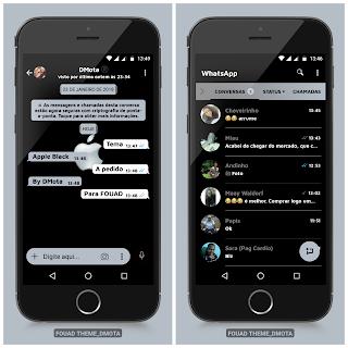 Apple Black Theme For YOWhatsApp & Fouad WhatsApp By D Mota