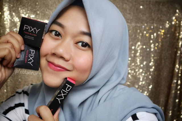 review pixy twin blush beauty blogger bandung febtarinar.com