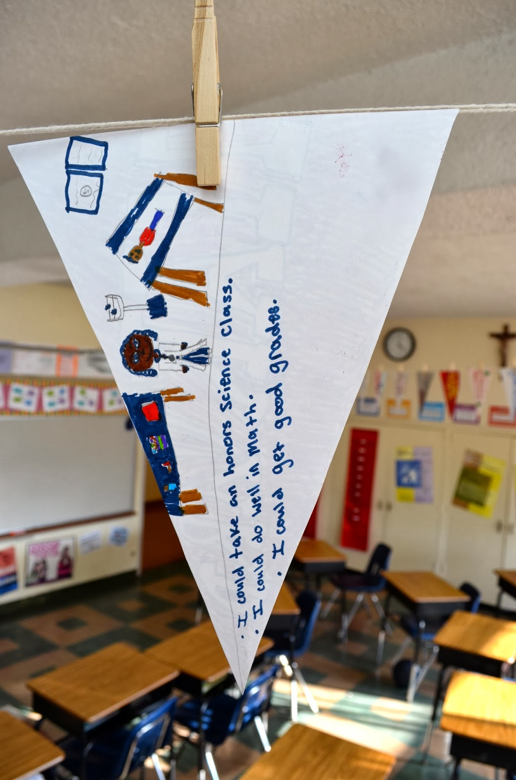 Middle School Mob College Pennant Activity