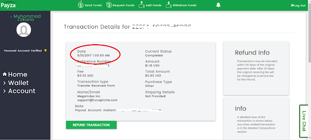 Bukti Pembayaran dari 2Captch
