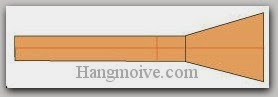 Bước 9: Hoàn thành cách xếp cây chổi bằng giấy.