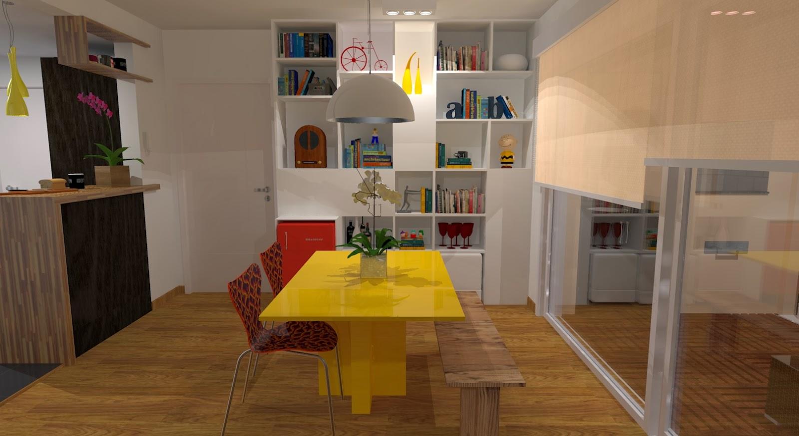 Projeto sala de apartamento Lily Fontana