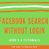 Search Facebook without Account