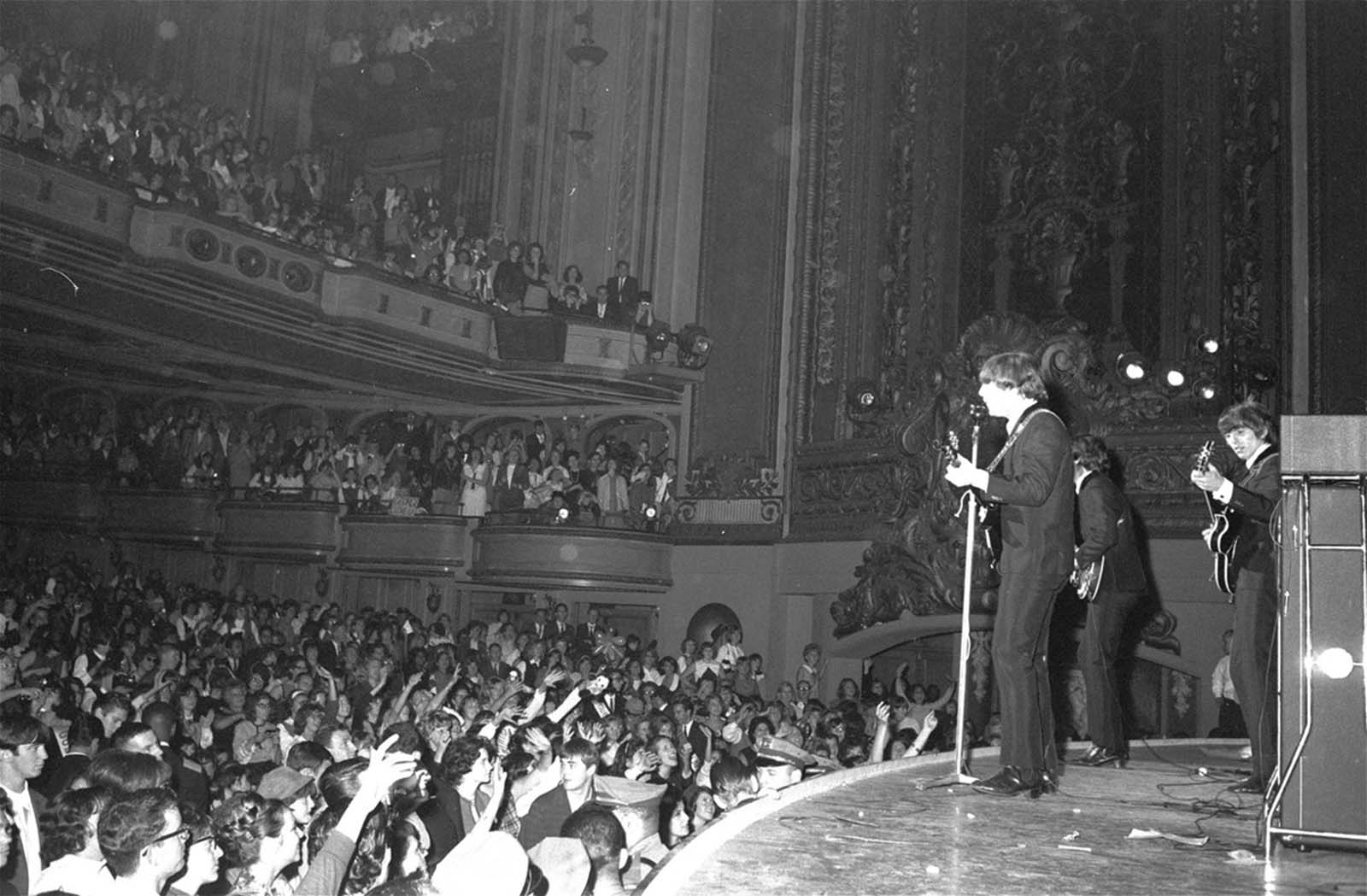 Despite a constant din of screaming teenagers, the Beatles successfully opened their second U.S. tour in San Francisco on August 20, 1964.
