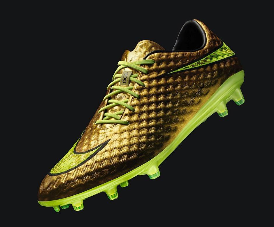 1239fe37bf3 NWK to MIA: Neymar's Nike Gold Hpyervenom Cleats Go On Sale Thursday ...