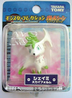 Shaymin figure sky form Takara Tomy Monster Collection Battle Scene series
