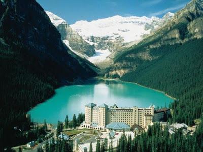 Gambar Terindah Pemandangan Alam Dunia Gunung Salju Danau Biru Cantik